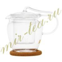 003882 Чайник стекло 600ml с фильтром в носике, дно d90 мм.