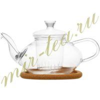 003811 Чайник стекло 500ml с заварочной колбой, дно d70 мм.