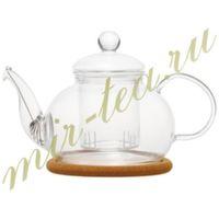 003823 Чайник стекло 800ml с заварочной колбой, дно d100 мм.