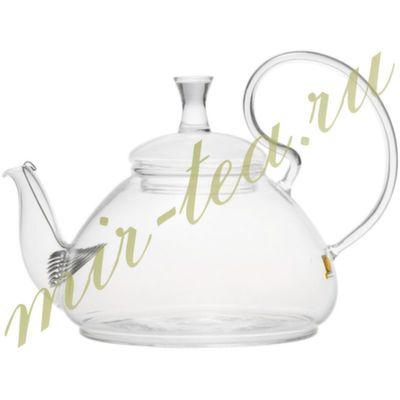 003825 Чайник стекло 670ml с фильтром в носике, дно d115 мм.