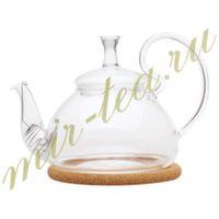 003850 Чайник стекло 600ml с фильтром в носике, дно d95 мм.