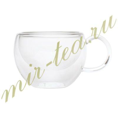 003856 Чашка с двойными стенками 260ml из жаропрочного стекла