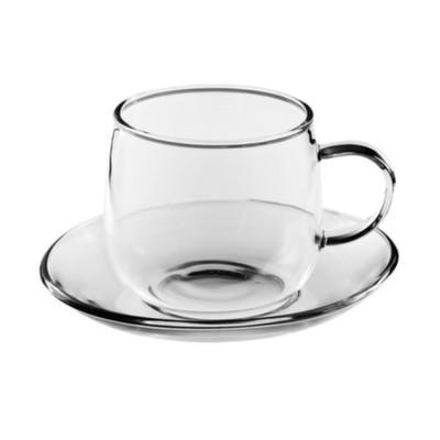 003861 Чайная пара из жаропрочного стекла, 200 мл.