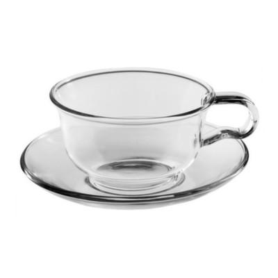 003862 Чайная пара из жаропрочного стекла, 150 мл.