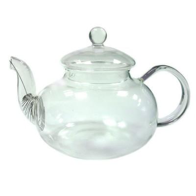 003883 Чайник стекло 600ml с фильтром в носике, дно d90 мм.