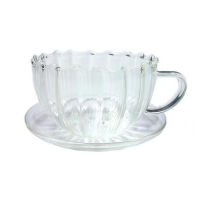 003884 Чайная пара из жаропрочного стекла, 150 мл.