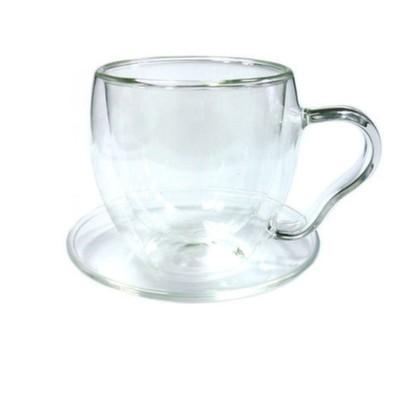 003888 Чайная пара из жаропрочного стекла, 200 мл.