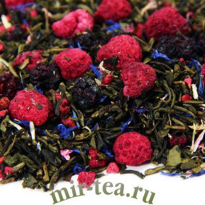 """W-336 Чай зелёный """"Ежевика с малиной"""""""
